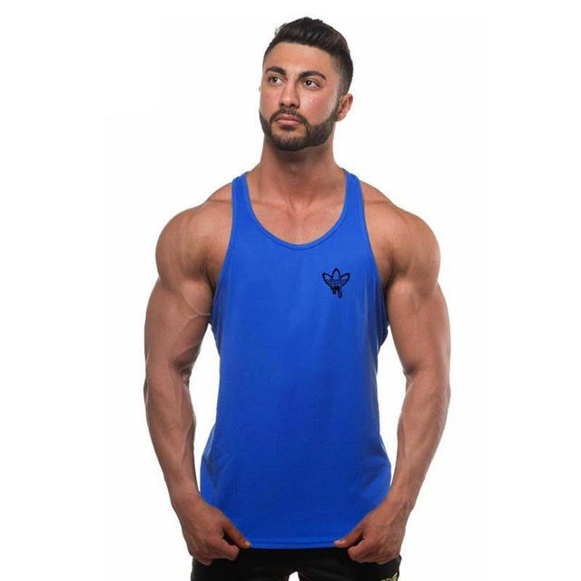 2017 Clothing Fitness Men Tank Tops Muscle Men Wear Gymclothing Vest Stringer Sportswear Bodybuilding Round neck T Shirt Male
