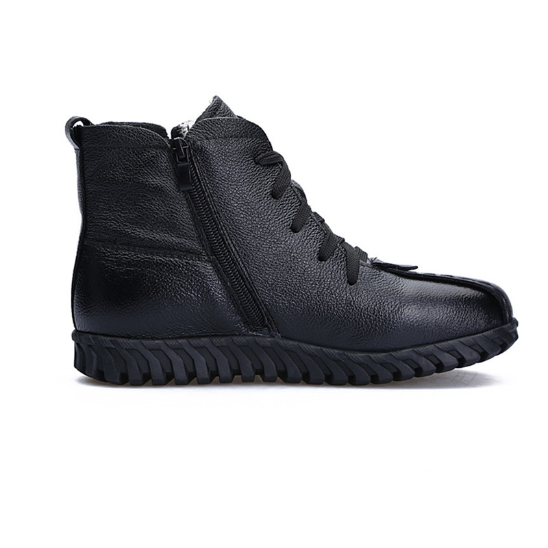 Image 4 - MORAZORA 2020 Russia Newest snow boots genuine leather women ankle boots keep warm wool boots comfortable casual shoes woman-in Ankle Boots from Shoes