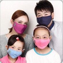 Algodón PM2.5 Anti Niebla Máscara anti-tormenta de polvo máscara boca máscara de filtro de carbón Activado boca-mufla A Prueba de Viento de Espesor gripe mascarillas