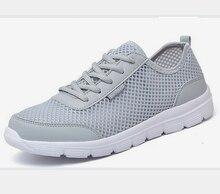 Skyaxmoto Top Hommes Chaussures 2017 D'été De Mode Respirant Hommes Occasionnels chaussures Dentelle Up Haute Qualité Plat Maille Chaussures Plus La Taille 35-46