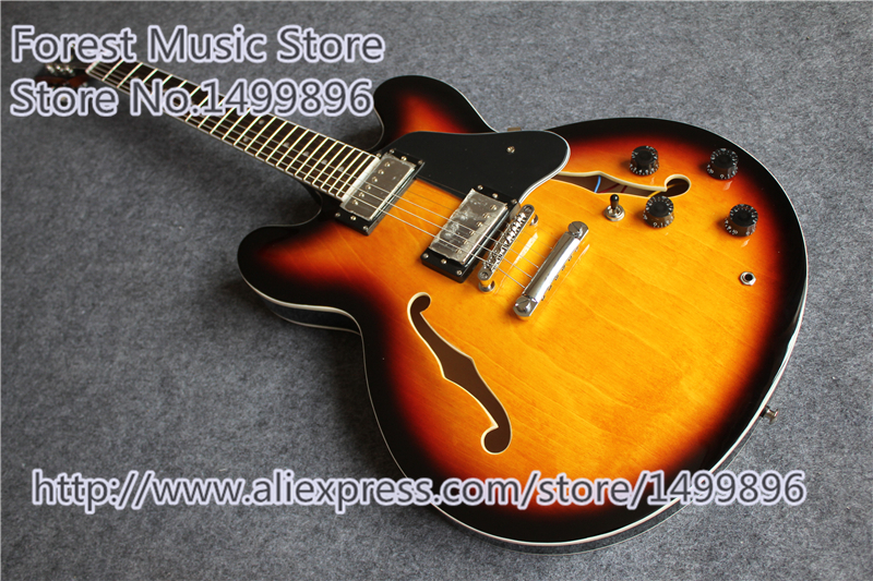 Top Selling Musical Instrument Vintage Sunburst Classic 1959 ES 335 Electric Chinese Jazz Guitar Kits & Body Lefty Available custom shop chinese musical instrument golden finish lp electric guitar kits lefty custom available