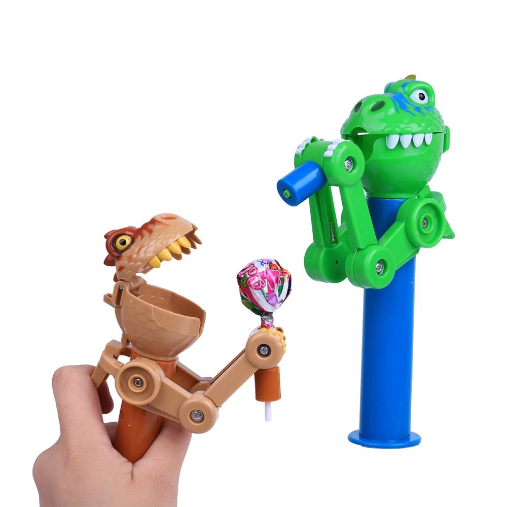 Creative Personality Dinosaur Toys Lollipop Holder Decompression Lollipop Robot Decompression Candy Dustproof Toys For Children