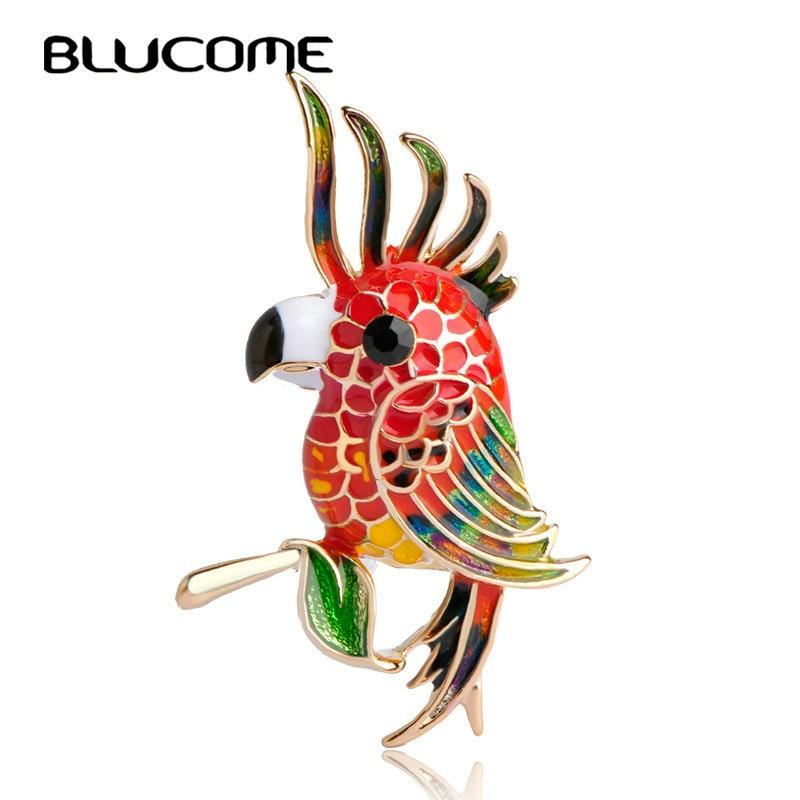 7aed7f24 ᐂBlucome szlachetny ptak cesarzowa broszka kolorowe emalia złota ...
