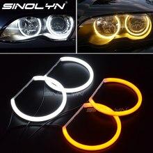 مفاتيح قطن خفيف هالو خواتم DRL LED عيون الملاك عدة لسيارات BMW 3 5 7 سلسلة E46/E39/E38/E36 السيارات العلوي التحديثية 131/146 مللي متر