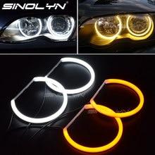 Хлопковый светильник Switchback, Halo кольца DRL комплект светодиодов «глаза ангела» для BMW 3 5 7 серии E46/E39/E38/E36, автомобильный головной светильник, модифицированный 131/146 мм