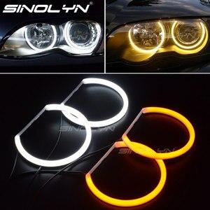 Image 1 - Switchback Katoen Light Halo Rings Drl Led Angel Eyes Kit Voor Bmw 3 5 7 Serie E46/E39/e38/E36 Auto Koplamp Retrofit 131/146 Mm