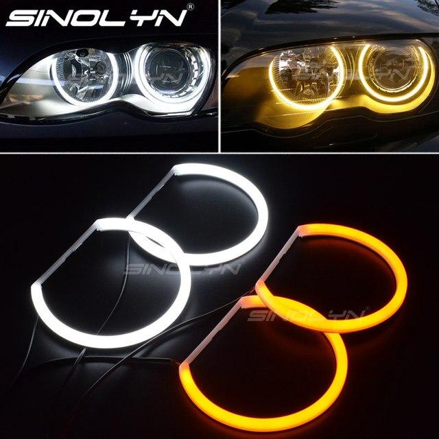 Switchback Katoen Light Halo Rings Drl Led Angel Eyes Kit Voor Bmw 3 5 7 Serie E46/E39/e38/E36 Auto Koplamp Retrofit 131/146 Mm