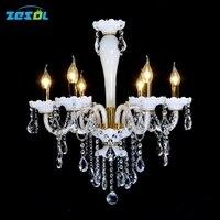 ZESOL New Arrival LED Bulb Glass Chandelier Lighting Dinning Room Chandelier Coffee Room Light Wideth 60cm