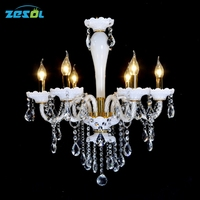 ZESOL New Arrival LED Bulb Glass Chandelier Lighting Dinning Room Chandelier Coffee Room Light Wideth 60cm