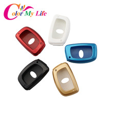 Color My Life Car Key Cover Shell Key Case For Hyundai IX25 Creta Elantra Santa Fe Tucson Solaris 2015 2016 2017 Accessories