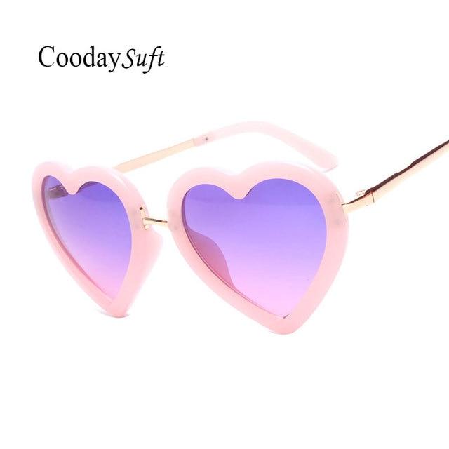 9858133edf83a4 Coodaysuft 2017 coeur D enfant forme lunettes de Soleil Enfants Garçons  Filles Mignon Miroir Bébé