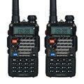 Walkie Talkie 2 UNIDS Baofeng UV-5RE PLUS 5 W 128CH UHF VHF FM VOX Radios de Dos Vías de Doble Pantalla