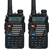 Walkie Talkie 2PCS Baofeng UV-5RE Plus 5W 128CH UHF VHF FM VOX Dual Display Two Way Radios
