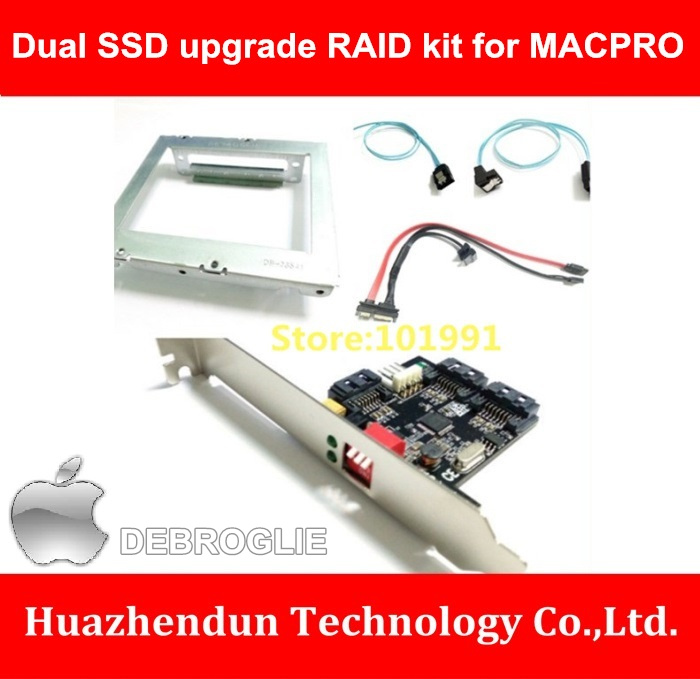 ФОТО Competitive Product  Dual SSD upgrade RAID kit for MACPRO with Dual Bracket-RAID card-Combination Cable  Upgrade Kit  Series