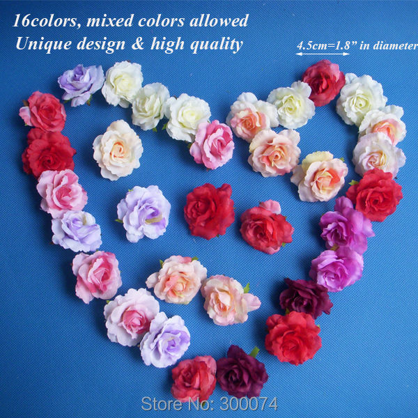 Artificial flowers for crafts crafting 50pcs 4 5cm artificial silk flowers for decoration small craft mightylinksfo