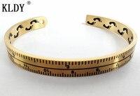 kldy байкерские жесткие браслеты браслет линейка спидометр манжеты браслеты из нержавеющей стали манжеты браслеты хип-хоп украшения для мужчин