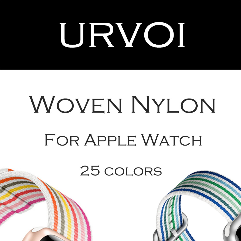 URVOI 2018 Woven Nylon for apple watch band series 3 2 1 durable strap for iwatch comfortable fabric-like feel colorful pattern цена и фото
