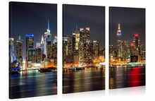 3 pieces framed Wall Art Picture Gift Home Decoration Canvas Print painting Beautiful city at night wholesale/12Y-47(China)