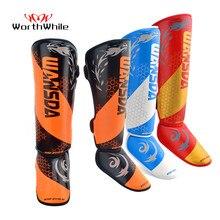 Worthy – protège-tibia de boxe MMA, 1 paire, Support de cheville, équipement de Kickboxing pour hommes et femmes, protections de karaté, Sanda Muay Thai Legging