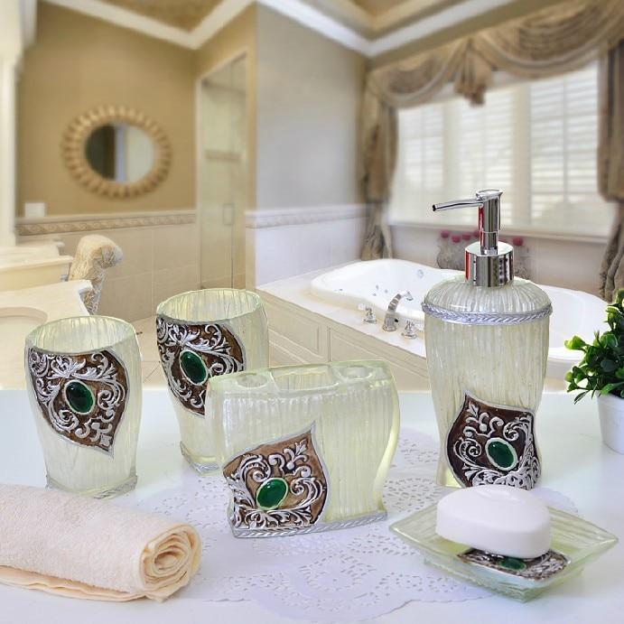 2014 luxury bathroom accessories set elegant bathroom sets