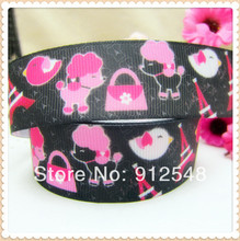 1» (25mm) cartoon Series Printed grosgrain ribbon, butterfly accessories, DIY materials,MD32333