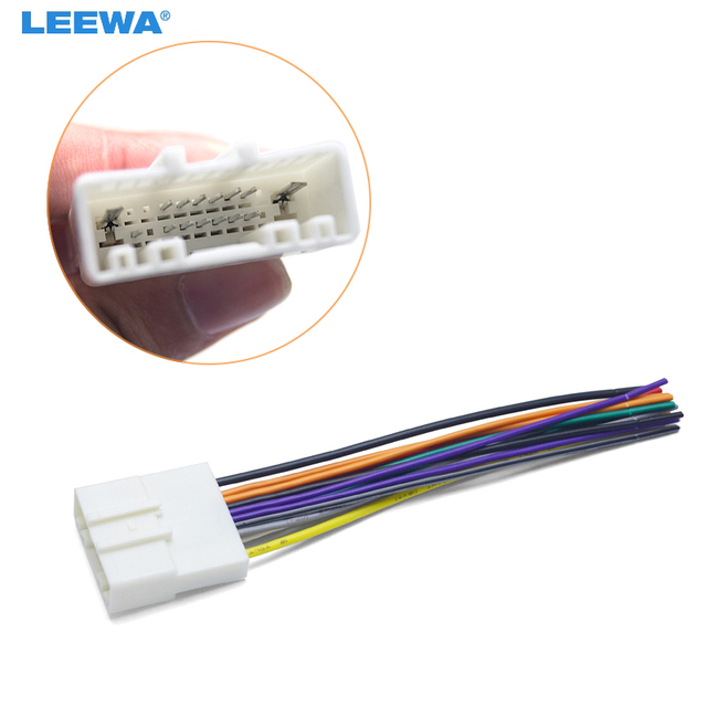 Leewa 10pcs 15pin Car Audio Stereo Wiring Harness Adapter For Nissan  Subaru  Infiniti Install