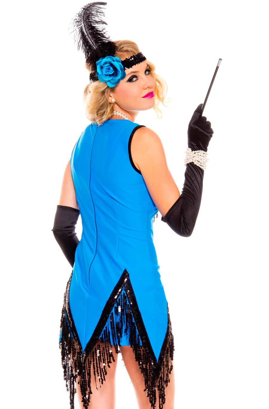 fascinating flapper costume sequin 1920s blue flapper dress black and blue flapper halloween fancy dress costume in holidays costumes from novelty special