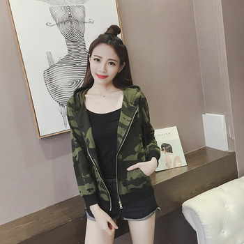 Womens blouse casual blusas femme Clothes female 2017  tops sweatershirt femininas Camouflage brand camuflaje camo bomber jacket Chemisier