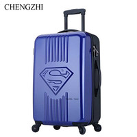 CHENGZHI2024inch SUPERMAN kids travel luggage spinner Carry on trolley suitcase bag on wheels