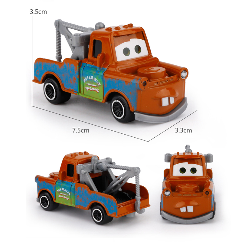 """7 шт./компл. disney """"тачки 3 Lightning McQueen Джексон Storm Крус Mater Мак дядя грузовик 1:55 литья под давлением металлический автомобиль модель игрушка для мальчиков"""