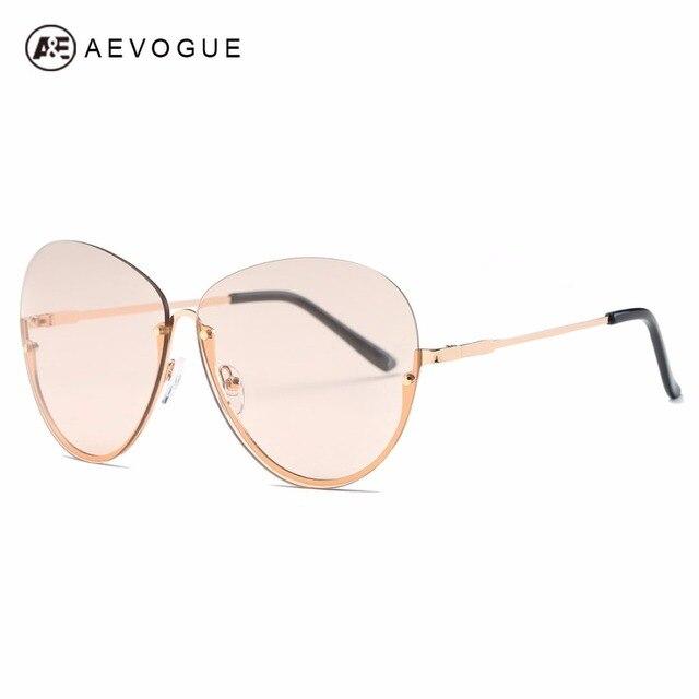 00485047fab414 Aevogue lunettes de soleil pour femmes semi-sans monture papillon style  marque fashion designer shades