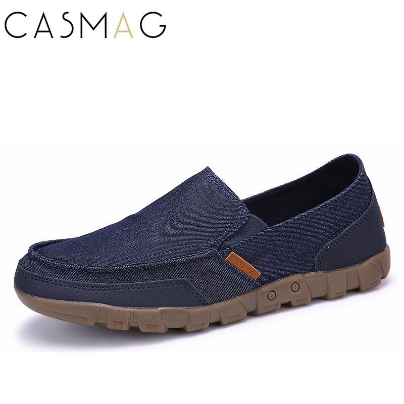 CASMAG Men Sneakers Outdoor Walking Shoes Slip On Breathable Canvas Lightweight Sports Running Shoes Plus Size 39-48