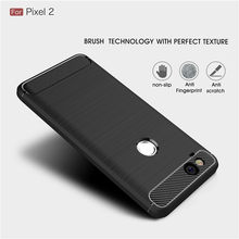 For Google Pixel 2 2XL 3 XL case Luxury Slim Armor Soft Silicone Phone Back Cover for Pixel 3XL Brushed Carbon Fiber Coque(China)