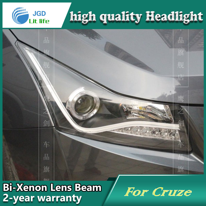 Car Styling Head Lamp case for Chevrolet Cruze 2009-2012 Headlights LED Headlight DRL Lens Double Beam Bi-Xenon HID Accessories hireno headlamp for 2016 hyundai elantra headlight assembly led drl angel lens double beam hid xenon 2pcs