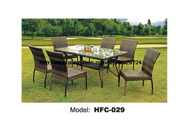 15 M Table En Rotin 7 PCS Loisirs Jardin Osier Bureau Chaises Vigne Balcon