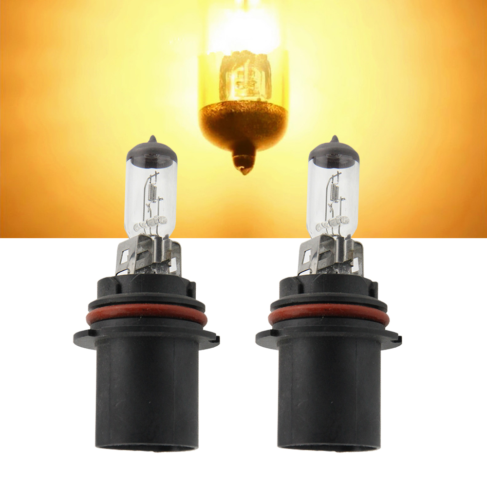 2pcs Super White 9004 HB1 12V 100/80W 3000K Clear Glass Light Car Bulbs Headlight OEM Replace Halogen Lamp