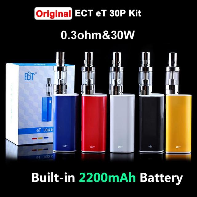 Original ECT Box Mod Electronic Cigarettes eT 30P 30W Mini fog Airflow Control Vaporizer Built-In 2200mAh Battery E-Cigarettes