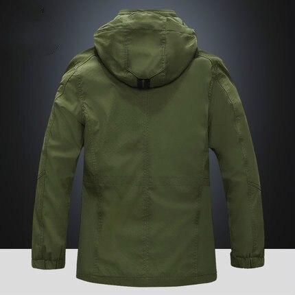 Новая Осенняя Модная тонкая куртка бомбер, Мужская толстовка на молнии с капюшоном, уличная Мужская ветровка - 4
