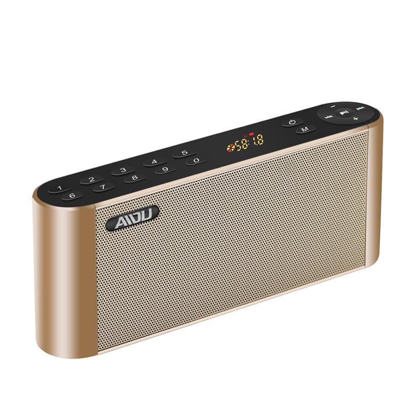 Q8 Bluetooth Speaker Portable Wireless Handsfree Pocket Audio Speaker Subwoofer HiFi Led Display Speaker with Mic