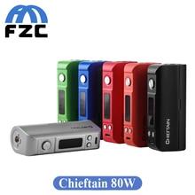 Original Wotofo Chieftain 80W Box Mod Single 18650/26650 Temperature Control Electronic Cigarette Vape Mod VS Wismec RX200S Kit