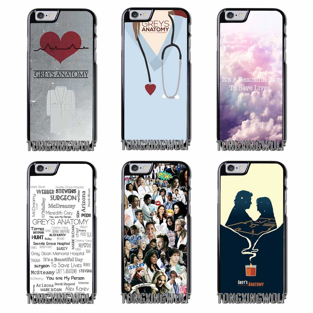 Grey\'s Anatomy Cover Case For iPhone 4 4s 5 5c 5s se 6 6s 7 8 Plus X ...