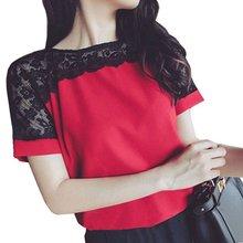 Модные женские блузки лето кружева Шифоновая Блузка Повседневная Feminina модные сорочка женские рубашки 4XL