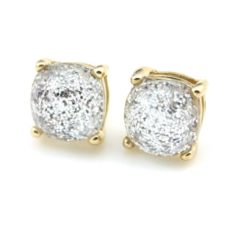 2018 Hot Selling Glitter Stud Örhängen Kvinnor Mode Smycken Guld - Märkessmycken - Foto 6