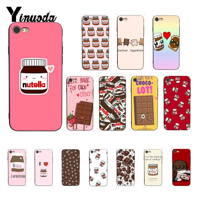 Yinuoda funny food Chocolate Nutella Luxury Unique Design <font><b>PhoneCase</b></font> for <font><b>iPhone</b></font> 5 5Sx 6 7 <font><b>7plus</b></font> 8 8Plus X XS MAX XR 10 Case image