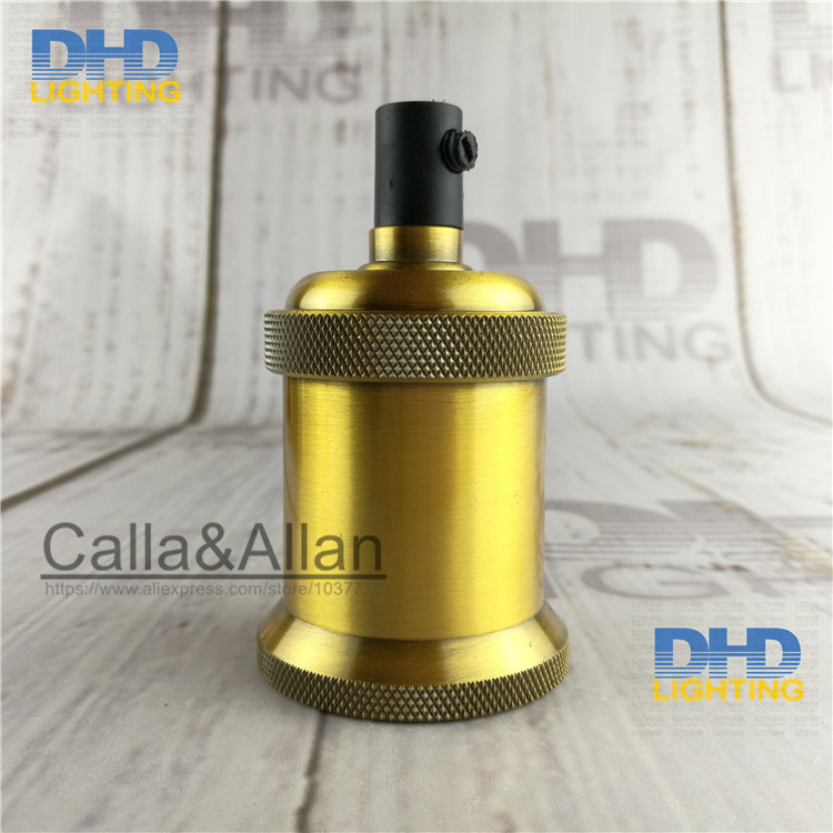 Brass Switched Batten Holder Edison E26