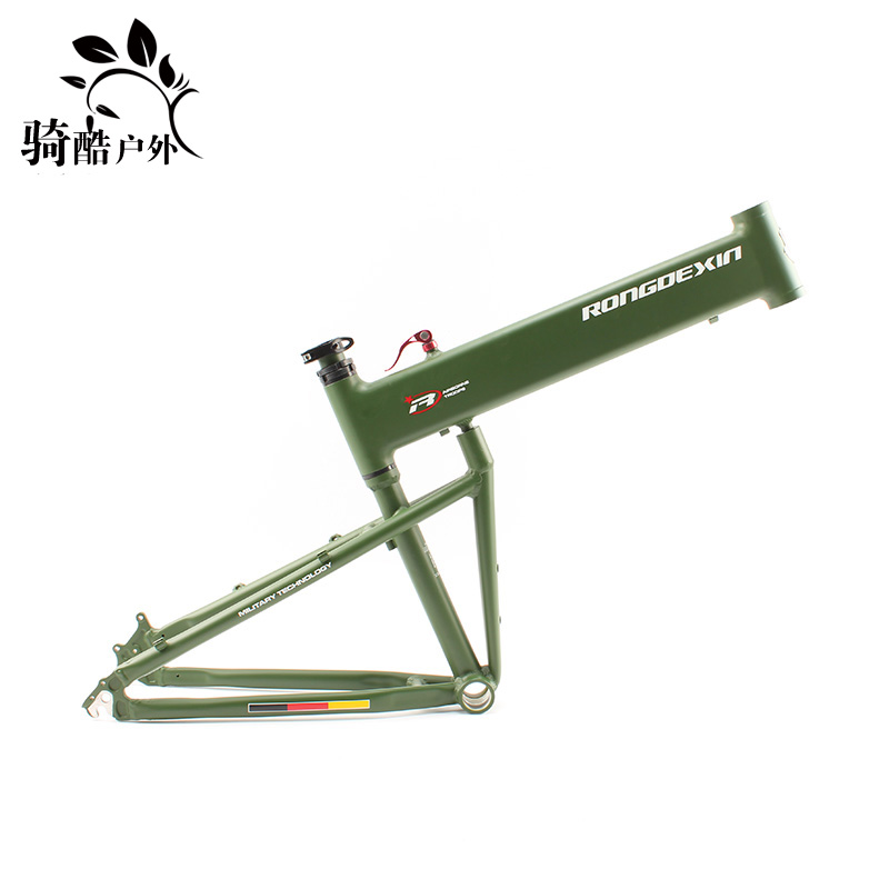 RONGDEXIN paratrooper MTB bikes folding bicycle frame 26er 27er 29er portable folding frame bicycles parts children s tricycle childs vehicles with push push folding bicycles baby bicycles child bicycles