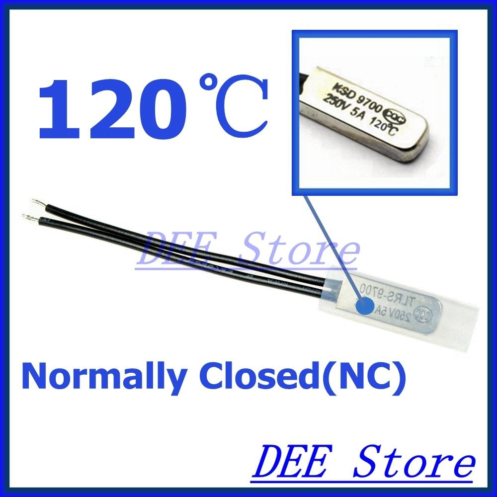 2pcs 250V 5A 45C Normal Close Thermostat Temperature Control Switch KSD9700