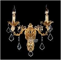Оптовая продажа золотой кристалл настенный светильник Серебряная стена канделябр хрустальные Настенные Кронштейны люстра бесплатная дос