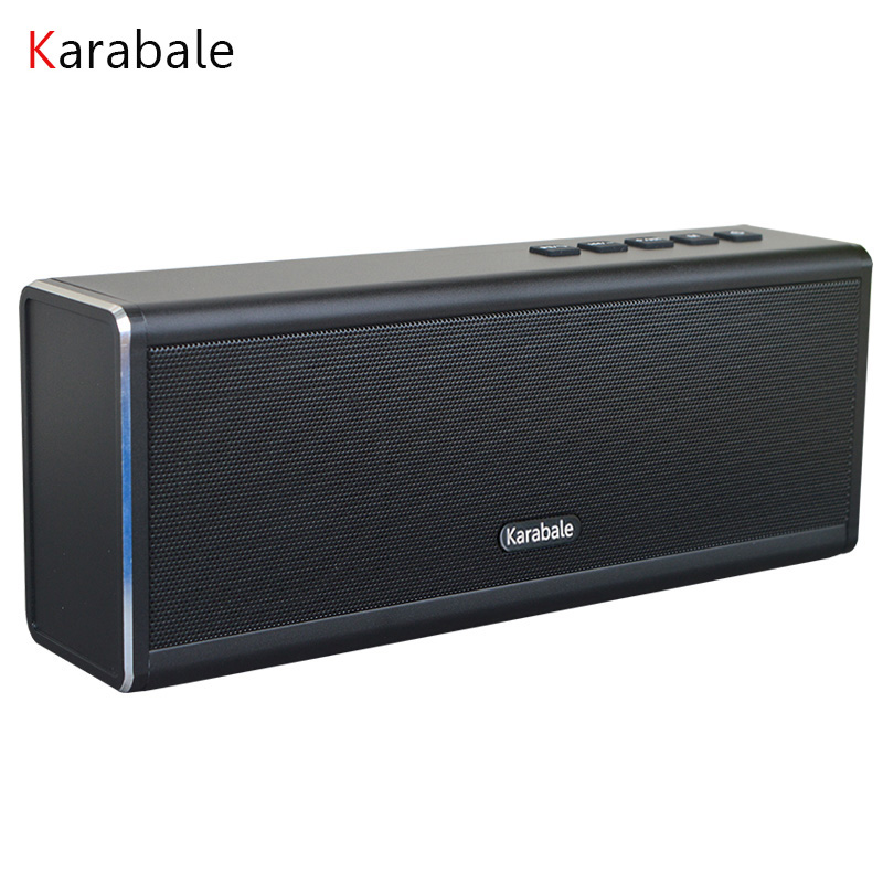 HIFI Speaker Power-Bank Desktop Handfree Metal Portable Wireless FM MIC 20W Bluetooth