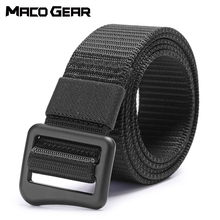 купить Sports Tactical Belt Military Nylon Waist Support Strap Hunting Training Hiking Outdoor Combat Metal Buckle Molle Waistband Men дешево